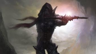 Fantasy art demon hunter artwork diablo iii wallpaper
