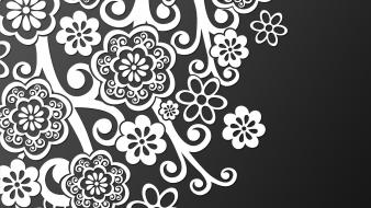 Flowers black background wallpaper