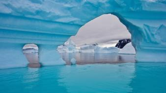 Ice ocean snow icebergs antarctica wallpaper