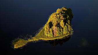 Lakes aerial photography baltic states view unseen wallpaper