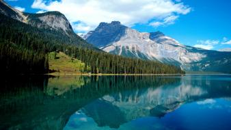 Landscapes canada british columbia lakes national park emerald wallpaper