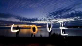 Love british columbia light painting skyscapes art wallpaper