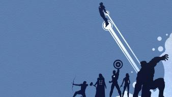Marvel comics the avengers hawkeye blue background wallpaper