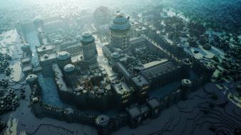 Minecraft game of thrones medieval rendering pc wallpaper