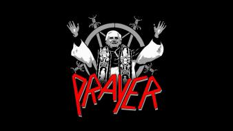 Minimalistic funny slayer pope benedict xvi prayer wallpaper