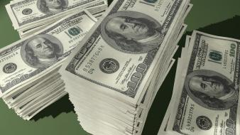 Money stacked hundred dollar bill wallpaper
