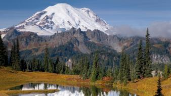 Mountains chinook washington mount rainier wallpaper