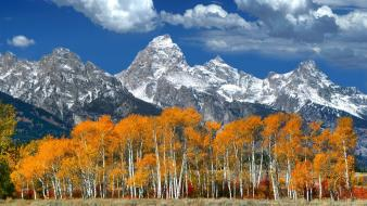 Mountains clouds landscapes wyoming grand teton national park wallpaper