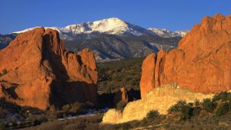 Mountains peak colorado pikes garden of the gods wallpaper