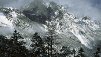 Mountains snow china yunnan wallpaper
