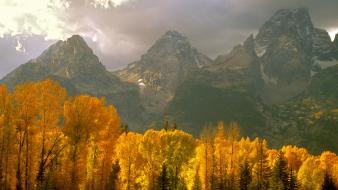 Mountains wyoming tetons wallpaper