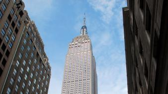 New york city manhattan empire state building wallpaper
