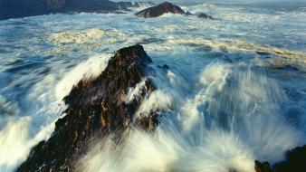 Ocean rocks namibia seascapes atlantic wallpaper