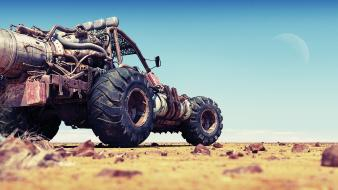 Post-apocalyptic cars mad max junk buggy wallpaper