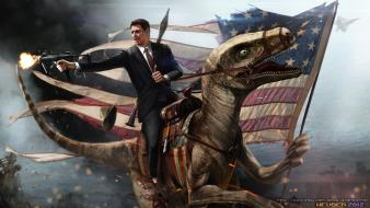 Ronald reagan rocket launcher american flag rpg-7 wallpaper