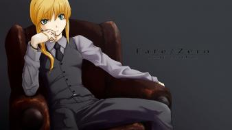 Saber fate/zero anime girls fate series wallpaper