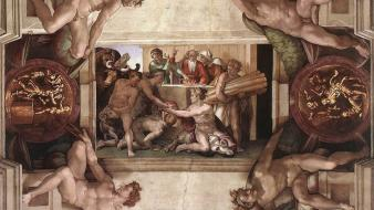 Sacrifice michelangelo of noah buonarroti wallpaper