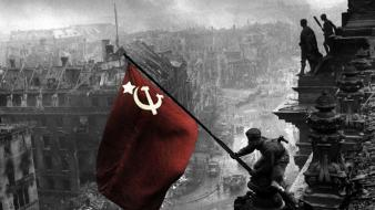 Soviet russia flags wallpaper