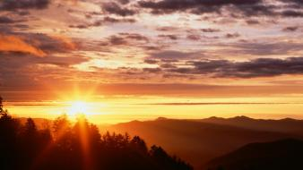 Sunrise tennessee gap great smoky mountains wallpaper