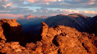 Sunset mountains landscapes peak colorado national park rocky wallpaper