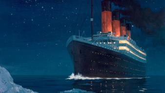 Titanic boats sea wallpaper