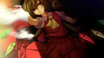 Touhou wings vampires flandre scarlet anime girls wallpaper