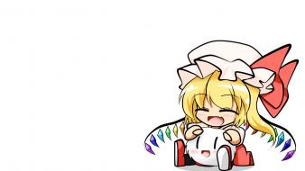 Touhou wings vampires flandre scarlet simple background wallpaper