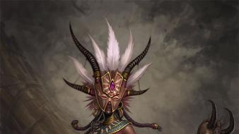 Video games artwork diablo iii witch doctor wallpaper