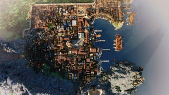 Video games minecraft game of thrones rendering wallpaper