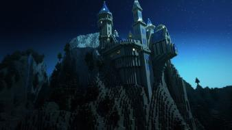 Video games minecraft rendering wallpaper