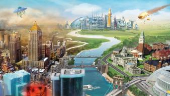Video games simcity wallpaper
