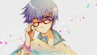 (vocaloid) hair short meganekko anime boys bracelets wallpaper