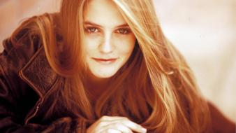 Women redheads alicia silverstone smiling Wallpaper