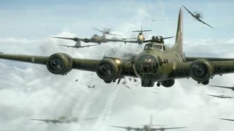 World war ii b-17 flying fortress mission wallpaper