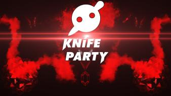 3d knife party dubstep electro lens flare wallpaper