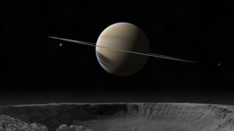 3d saturn outer space planets wallpaper