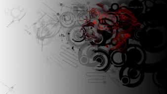 Abstract backgrounds red silver wallpaper