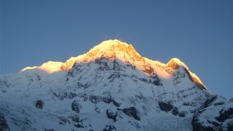 Annapurna himalaya mountains sunset Wallpaper