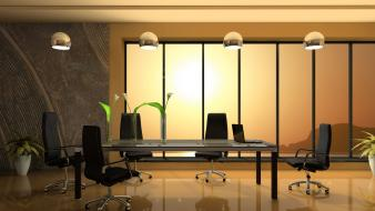 Architecture interior design modern office wallpaper