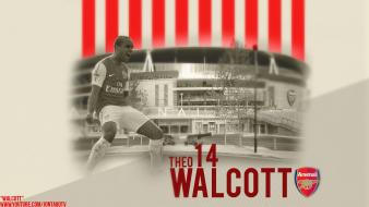 Arsenal fc emirates stadium london walcott black wallpaper
