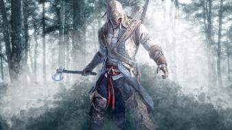 Assassins creed 3 animated artwork forests wallpaper