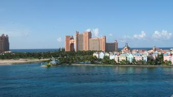Atlantis bahamas architecture paradise wallpaper