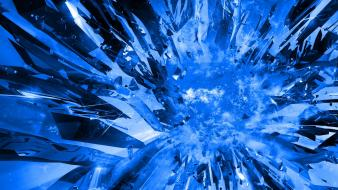 Blue crystals explosions Wallpaper