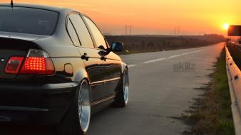 Bmw e46 cars roads sunset Wallpaper
