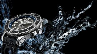 Breitling black background watch water Wallpaper