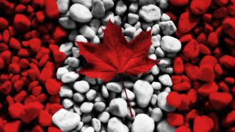 Canada canadian flag flags rocks Wallpaper