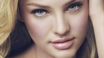 Candice swanepoel blondes blue eyes closeup faces Wallpaper