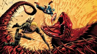 Captain america hawkeye marvel comics battles Wallpaper