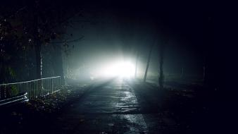 Dark flash light lights night roads wallpaper