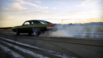 Dodge charger burnout drifting cars muscle smoke wallpaper